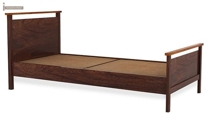 Denzil Single Bed (Walnut Finish)-4