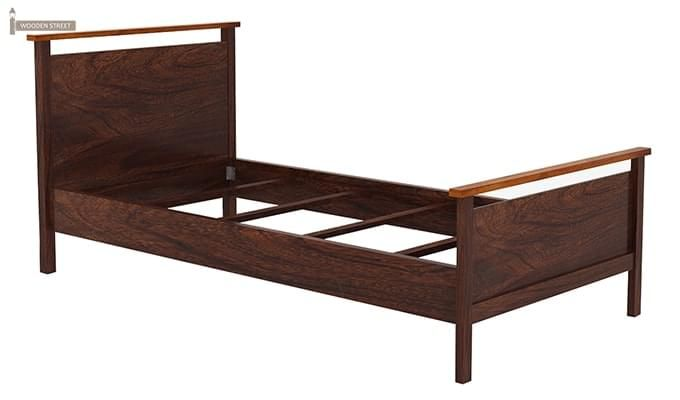 Denzil Single Bed (Walnut Finish)-5