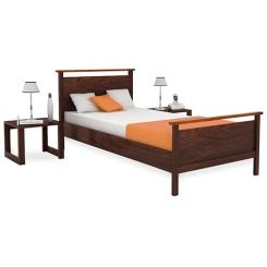 Denzil Single Bed (Walnut Finish)