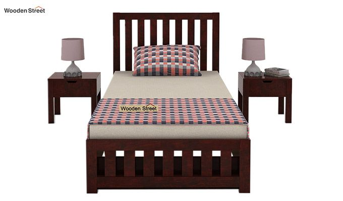 Douglas Single Bed With Storage (Mahogany Finish)-2
