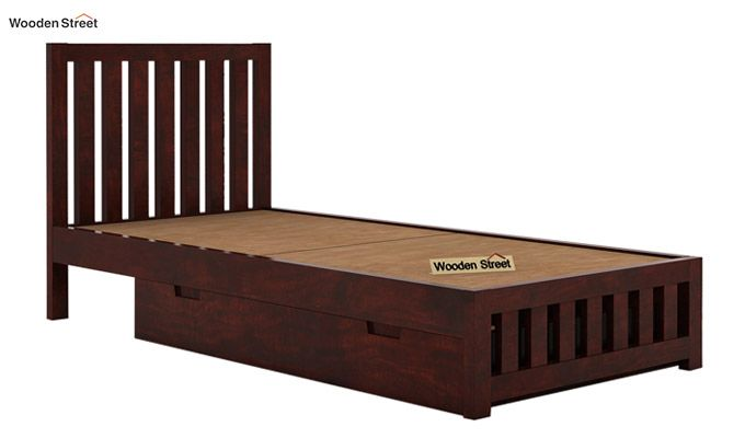 Douglas Single Bed With Storage (Mahogany Finish)-6