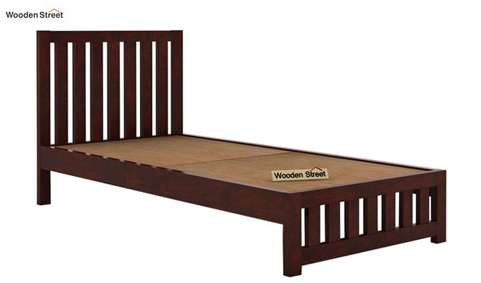 Douglas Single Bed Without Storage (Mahogany Finish)-4