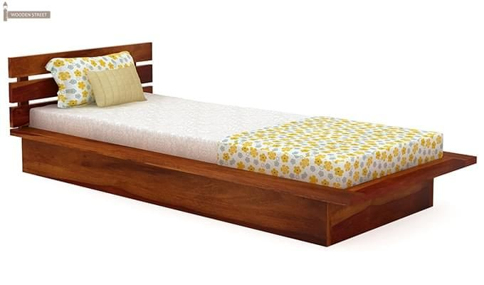 Dwayne Single Bed (Honey Finish)-2