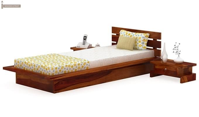 Dwayne Single Bed (Honey Finish)-4