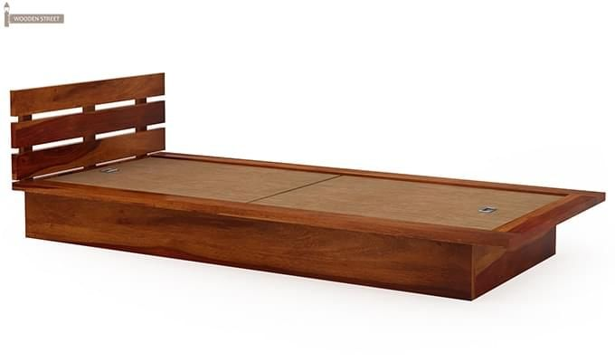 Dwayne Single Bed (Honey Finish)-5