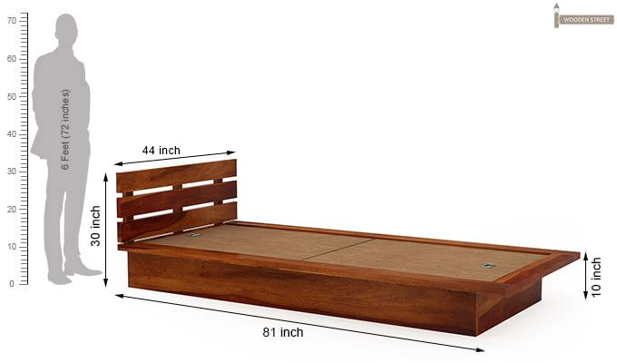 Dwayne Single Bed (Honey Finish)-7