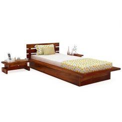 Dwayne Single Bed (Honey Finish)