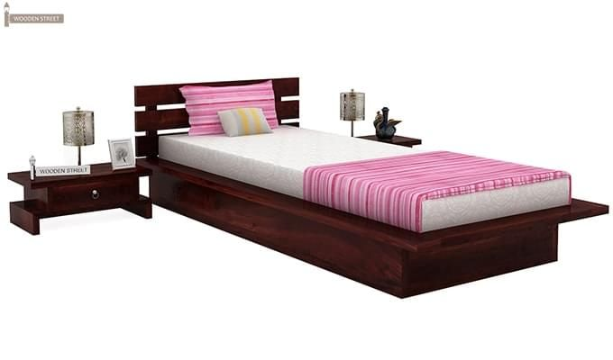 Dwayne Single Bed (Mahogany Finish)-1