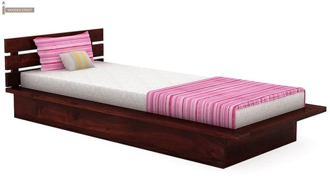 Dwayne Single Bed (Mahogany Finish)-2
