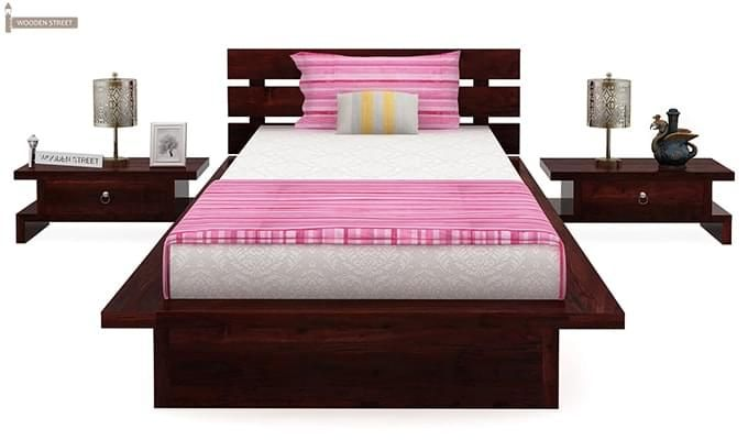 Dwayne Single Bed (Mahogany Finish)-3