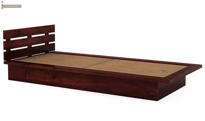 Dwayne Single Bed (Mahogany Finish)-5