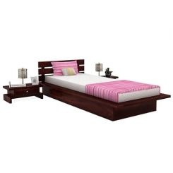 Dwayne Single Bed (Mahogany Finish)