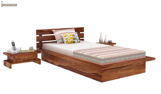 Dwayne Single Bed (Teak Finish)-2