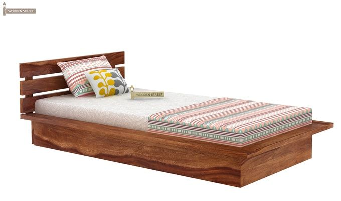 Dwayne Single Bed (Teak Finish)-3