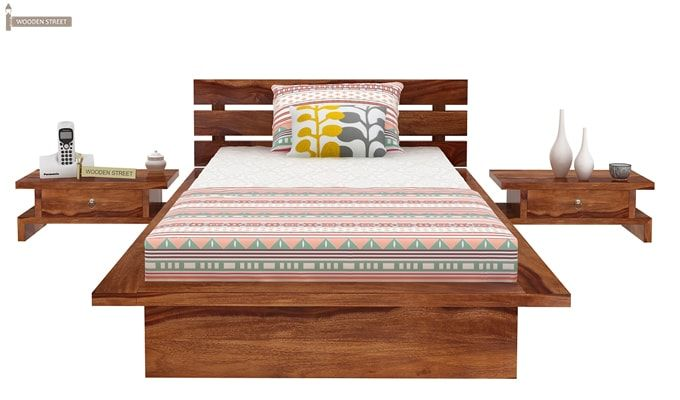 Dwayne Single Bed (Teak Finish)-4