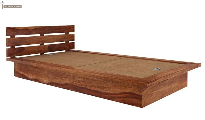 Dwayne Single Bed (Teak Finish)-6