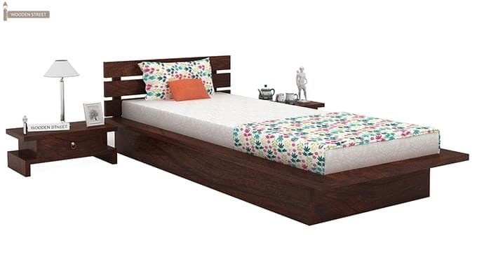Dwayne Single Bed (Walnut Finish)-1