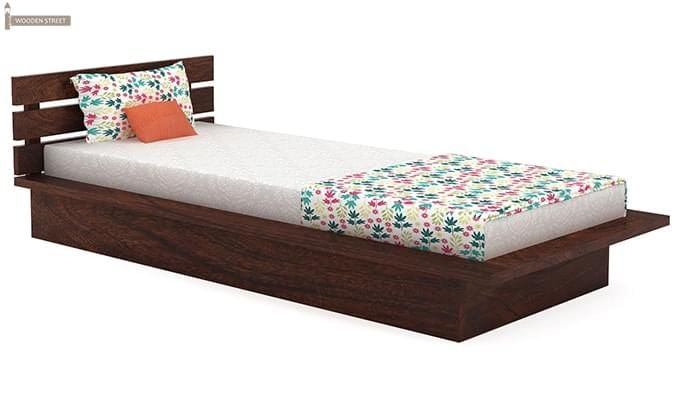 Dwayne Single Bed (Walnut Finish)-2