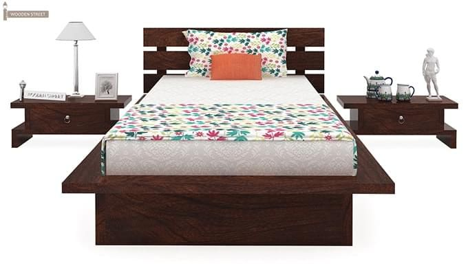 Dwayne Single Bed (Walnut Finish)-3