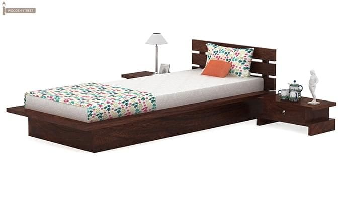 Dwayne Single Bed (Walnut Finish)-4