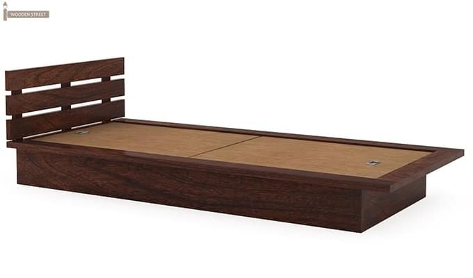 Dwayne Single Bed (Walnut Finish)-5
