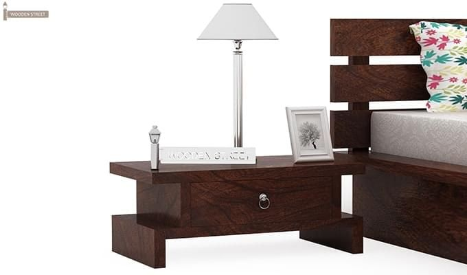 Dwayne Single Bed (Walnut Finish)-6