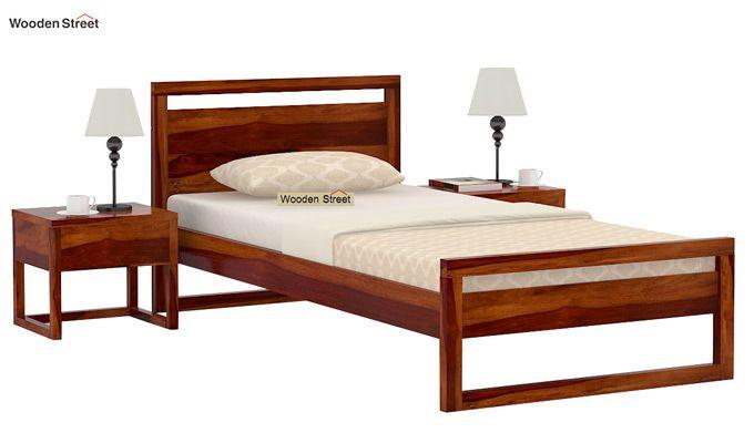 Felix Single Bed Without Storage (Honey Finish)-2