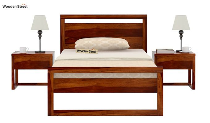 Felix Single Bed Without Storage (Honey Finish)-3