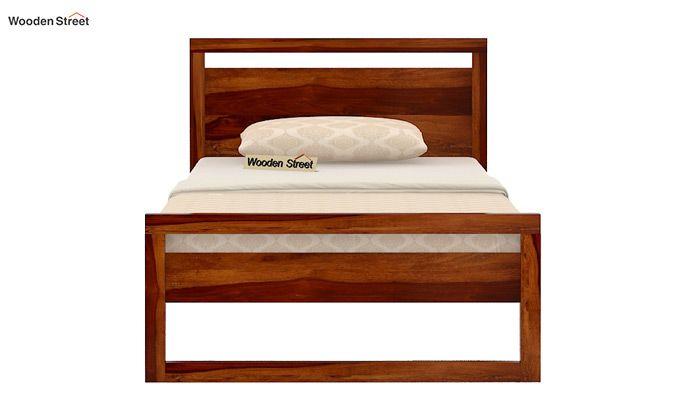 Felix Single Bed Without Storage (Honey Finish)-5