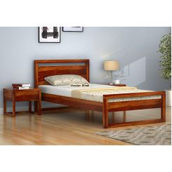 Felix Single Bed Without Storage (Honey Finish)