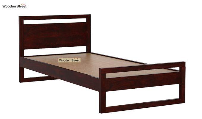 Felix Single Bed Without Storage (Mahogany Finish)-5