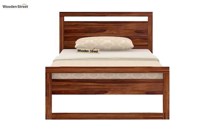 Felix Single Bed Without Storage (Teak Finish)-4