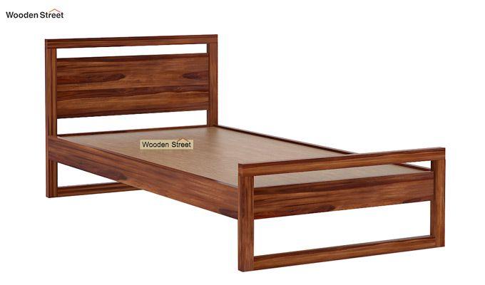 Felix Single Bed Without Storage (Teak Finish)-5