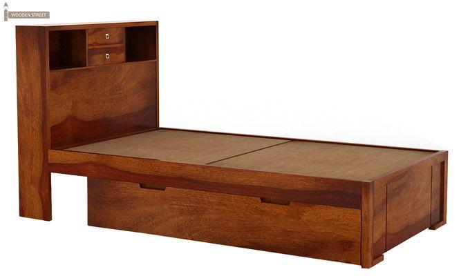 Felton Single Bed With Storage (Honey Finish)-3