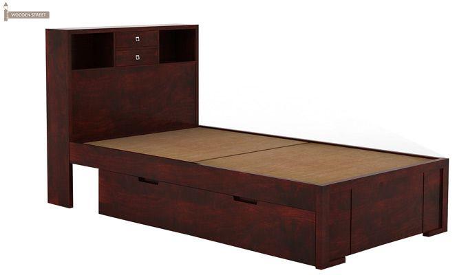 Felton Single Bed With Storage (Mahogany Finish)-4