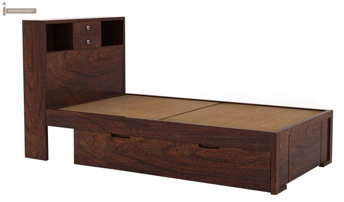 Felton Single Bed With Storage (Walnut Finish)-3