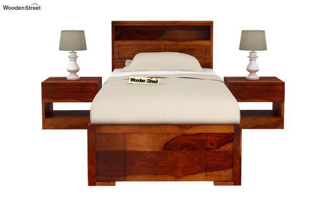 Ferguson Single Bed With Storage (Honey Finish)-3