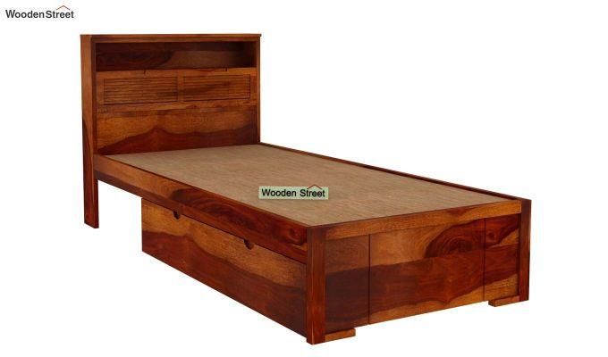Ferguson Single Bed With Storage (Honey Finish)-4