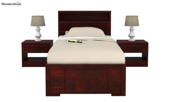 Ferguson Single Bed With Storage (Mahogany Finish)-3