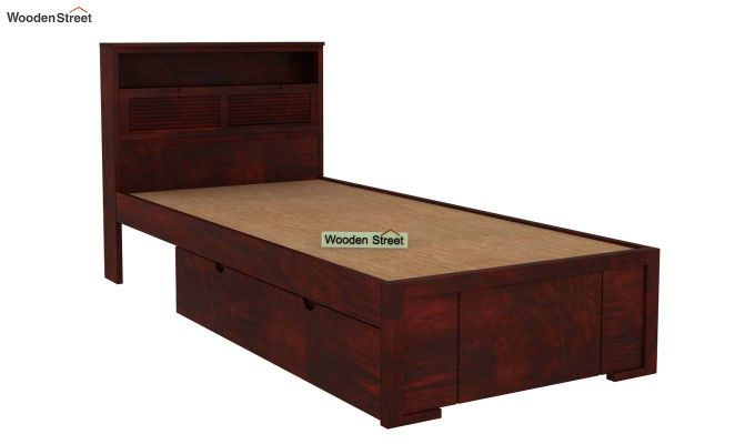 Ferguson Single Bed With Storage (Mahogany Finish)-4