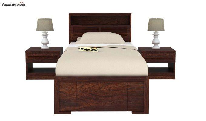 Ferguson Single Bed With Storage (Walnut Finish)-3