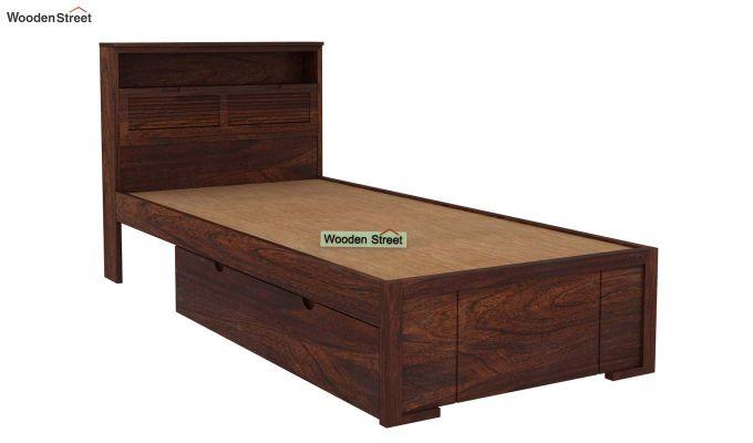 Ferguson Single Bed With Storage (Walnut Finish)-4
