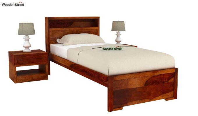 Ferguson Single Bed Without Storage (Honey Finish)-2
