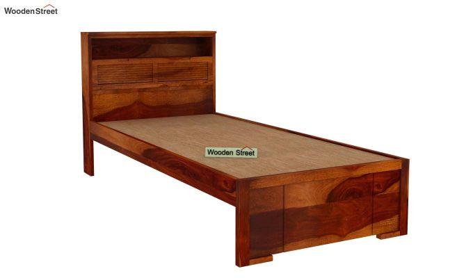Ferguson Single Bed Without Storage (Honey Finish)-4