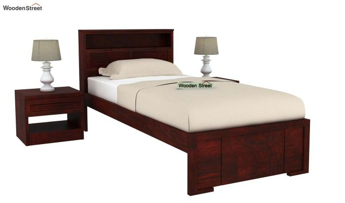 Ferguson Single Bed Without Storage (Mahogany Finish)-2