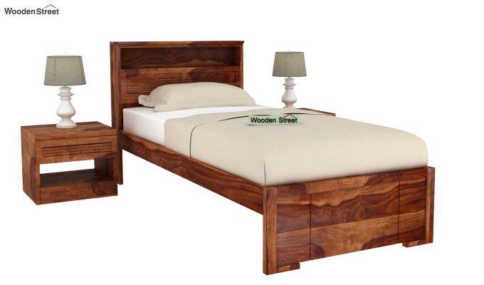 Ferguson Single Bed Without Storage (Teak Finish)-2