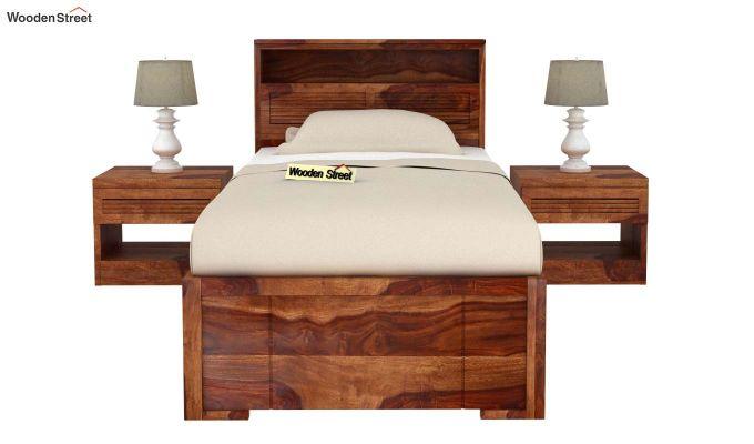 Ferguson Single Bed Without Storage (Teak Finish)-3