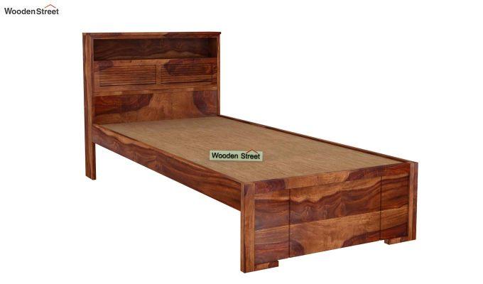 Ferguson Single Bed Without Storage (Teak Finish)-4