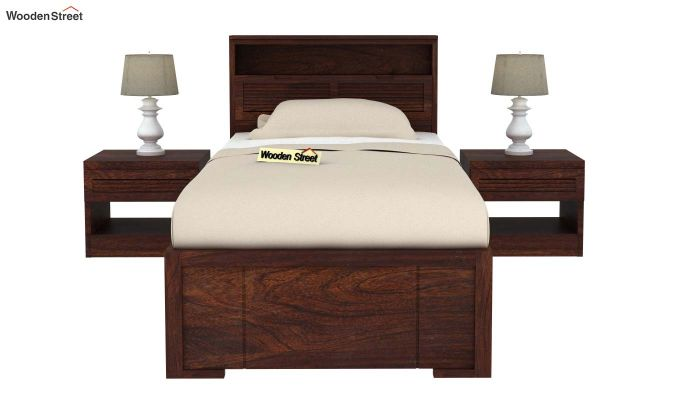 Ferguson Single Bed Without Storage (Walnut Finish)-3