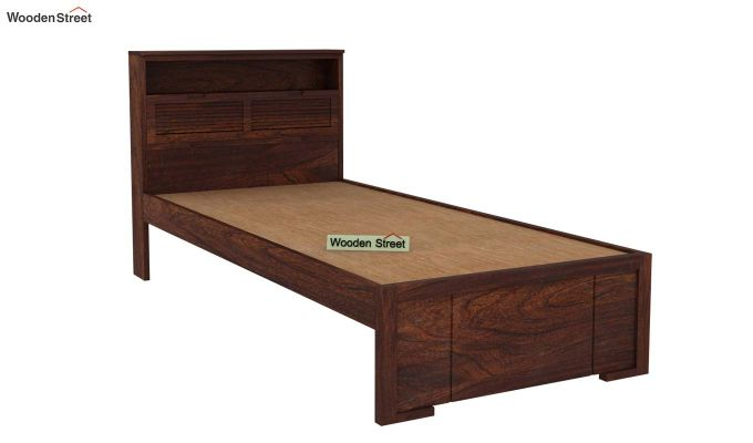 Ferguson Single Bed Without Storage (Walnut Finish)-4